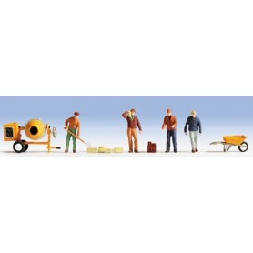 Noch 36035 Byggnadsarbetare, 4 st med tillbehör