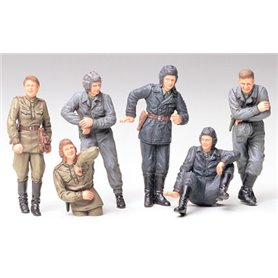 Tamiya 35214 Figurer Russian Army Tank Crew at Rest