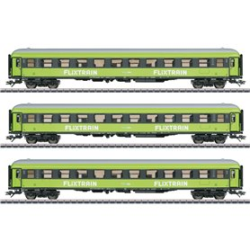 """Märklin 42955 Vagnsset med 3 personvagnar """"FLIXTRAIN"""""""