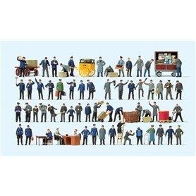 Preiser 13004 Järnvägspersonal med tillbehör, storpack, 60 st