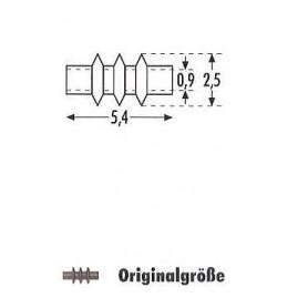 Sommerfeldt 168 Isolatorer, bruna, 40 st