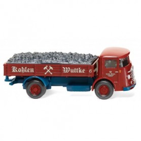 Wiking 47604 Flatbed lorry (Büssing 4500) 'Kohlen Wuttke'