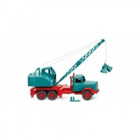 Wiking 66204 Crane truck (Magirus|Fuchs) - water blue