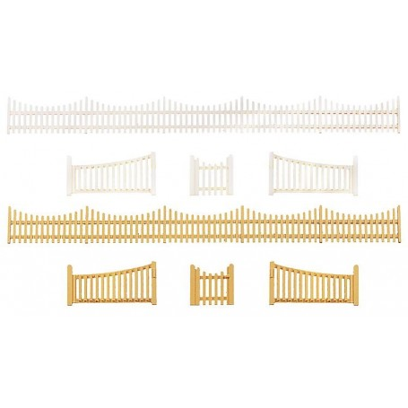 Faller 272406 Trädgårdsstaket med grindar, totallängd 540 mm