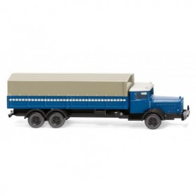 Wiking 94306 Flatbed truck (MB L 10000) - azure blue