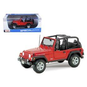Maisto 31663 Jeep Wrangler Rubicon, röd