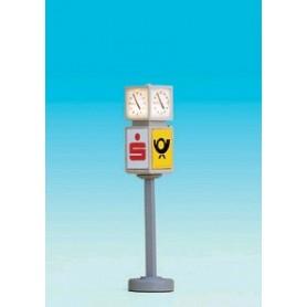 Brawa 4574 Stationsklocka med reklam, belyst, höjd 40 mm