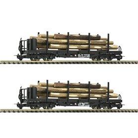 Roco 34581 Vagnsset med 2 stolpvagnar typ ÖBB