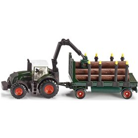 Siku 1861 Tractor with forestrytrailer
