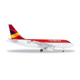 Herpa Wings 530088 Flygplan Avianca Airbus A318