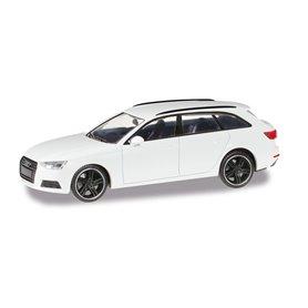 Herpa 420884 Audi A4 Avant Black Edition, alpine white