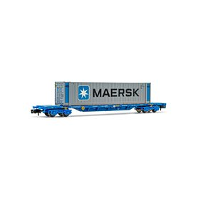 "Arnold HN6441 Flakvagn RENFE med last av 45' container ""Maersk"""