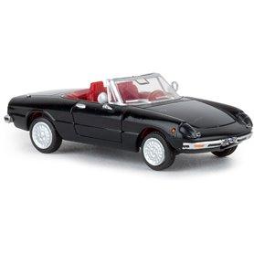 Brekina 29606 Alfa Romeo Spider nero, svart, TD