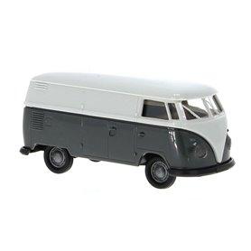 Brekina 32727 VW T1b Skåp, economy 1960, ljusgrå/mörkgrå