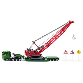 Siku 1834 Heavy haulage transporter with cable excavator and service