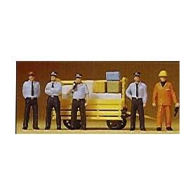 Preiser 10372 Tågpersonal, 5 st med tillbehör