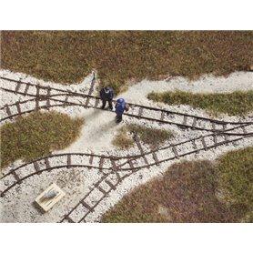 Auhagen 41701 Narrow gauge railway track parts replicas
