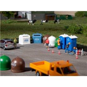 Auhagen 42593 Toaletter och återvinningscontainrar