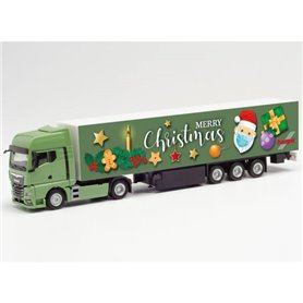 "Herpa 313209 MAN TGX GX box semitrailer ""1. Advent 2020"""