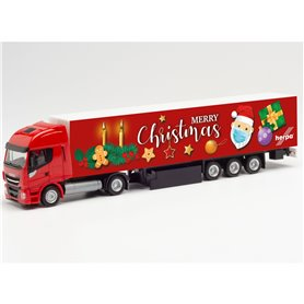 "Herpa 313216 Iveco Stralis NP box semitrailer ""2. Advent 2020"""