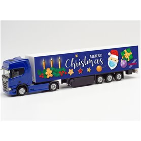"Herpa 313223 Scania CR 20 HD box semitrailer ""3. Advent 2020"""