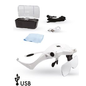 Model Craft LC1780USB USB Lightcraft Magnifier Glasses with Headband and 5 Lenses