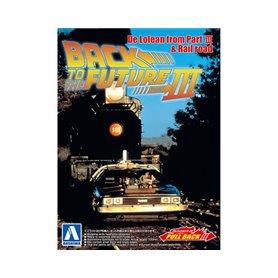 "Aoshima 054772 De Lorean ""Back to the future"" part III & Rail Road"