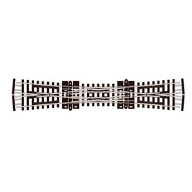 Peco SL-E390F Korsningsväxel, dubbel, radie 514 mm, vinkel 10°, längd 154 mm