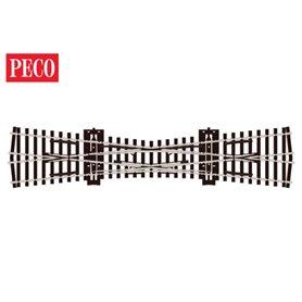 Peco SL-E180 Korsningsväxel, enkel, radie 610 mm, vinkel 12°, längd 249 mm