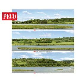 Peco SKP-01 River Valley Photographic Backscene