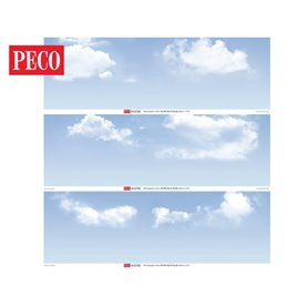 Peco SKP-03 Sky & Clouds Photographic Backscene
