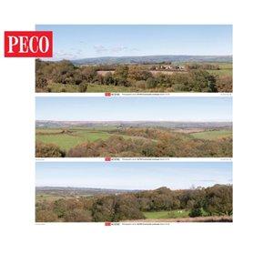 Peco SKP-04 Countryside Photographic Backscene