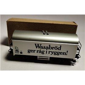 """Märklin 4566.1 Godsvagn 083 9 216-5 Lgs typ SJ """"Wasabröd ger råg i ryggen"""""""