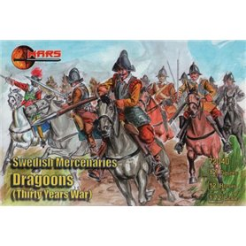 Mars 72040 Figurer Swedish Mercenaries Dragoons, Thirty Years War