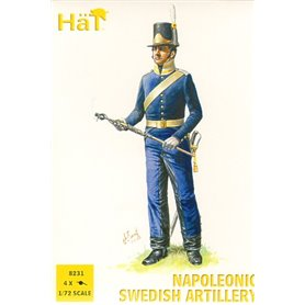 Hät 8231 Figurer Napoleonic Swedish Artillery