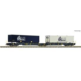 "Fleischmann 825012 Dubbel containervagn Sdggmrs/T2000 CargoNet ""Kjell Hansen"""