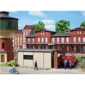 Auhagen 11429 Lokstall, 1-spårs för Köf lok