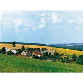 "Auhagen 42508 Bakgrundskuliss Landskapsmotiv ""Wolkenstein"" 5-delad"