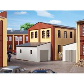 Auhagen 80105 Garage, med en träport eller en stålport som alternativ