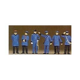 Preiser 12134 Royal Bavarian tågpersonal, 1900-tals klädda, 6 st
