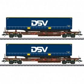 Märklin 47111 DSV Deep Well Flat Car Set