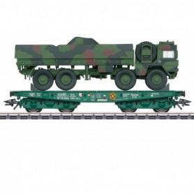 Märklin 48875 Tungtransportvagn Rlmmps DB AG med last av Man 1t GL Truck