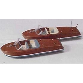 Preiser 17304 Motorbåtar, 2 st, byggsats