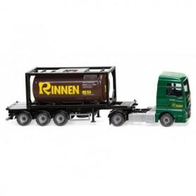 Wiking 53606 Tank container semi-truck 20' (MAN TGX Euro 6c) 'Rinnen'