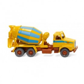 Wiking 68207 Concrete mixer (Volvo N10) - maize yellow|light blue