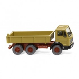Wiking 42406 Flatbed tipper (MB NG) – curry yellow