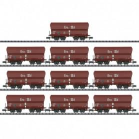 Trix 15458 Display with 10 Type Erz IIId Hopper Cars