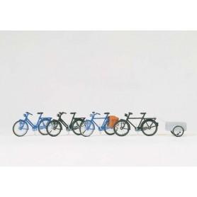 Preiser 17161 Cyklar, 4 st, med 1 st cykelkärra