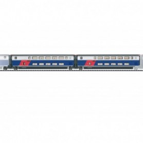 Trix 23487 Add-On Car Set 1 for the TGV Euroduplex