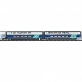 Trix 23488 Add-On Car Set 2 for the TGV Euroduplex